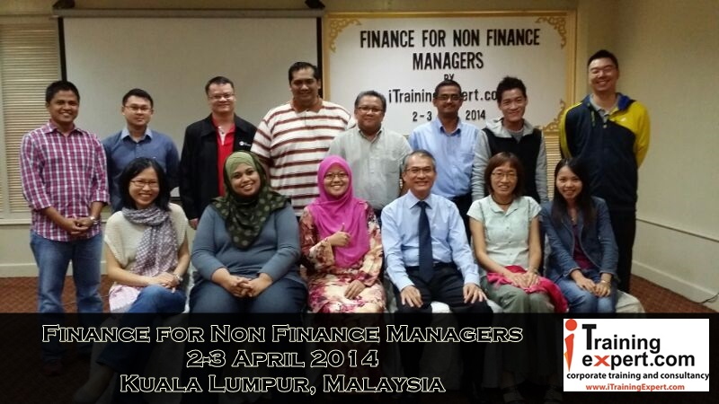 Finance for Non Finance Managers workshop by iTrainingExpert.com Group Phot for 3-4 April 2014